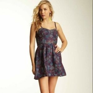 Free People Foiled Jacquard Tapestry Dress